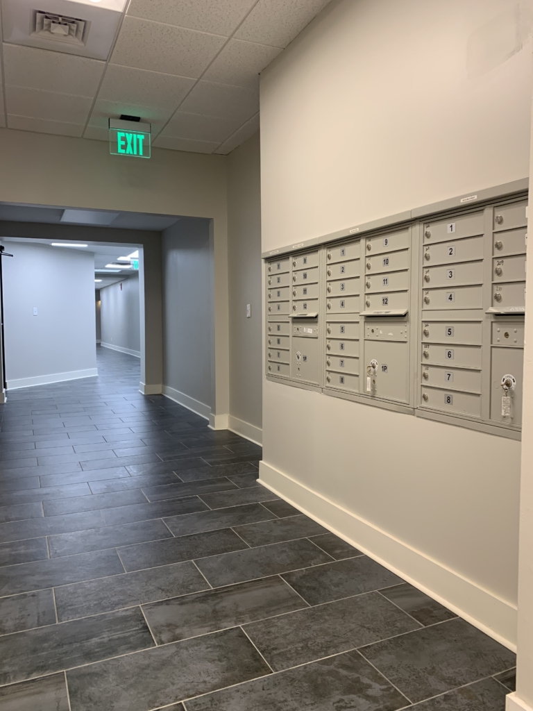 Mailboxes at North Second St. Building
