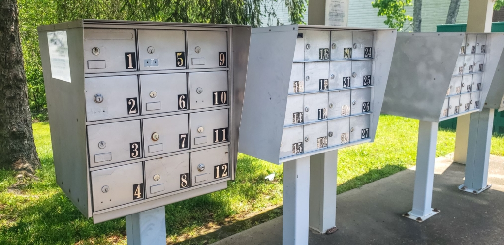 Mailboxes at Valley View Apartments